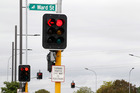 Delays from short-phasing traffic lights contribute to congestion that extracts a heavy cost in wasted petrol and harmful emissions. Photo / APN
