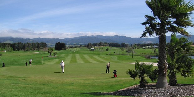 Robert Cribb bought this Katikati golf course - along with a clubhouse and residential sections - with the plan to develop it until his company went into receivership.