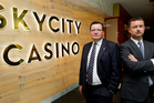 Nigel Morrison CEO (left) and James Burrell Chief Financial Officer of Sky City. Photo / Richard Robinson