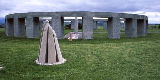 Stonehenge-Aotearoa is built on a similar scale to Stonehenge in England.