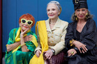 Ilona Royce Smithkin, Joyce Carpati and Lynn Dell star in the new Advanced Style film. Photo / Ari Seth Cohen and ilmmaker Lina Plioplyte.