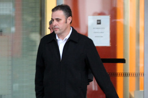 Hawke's Bay police officer Adam Dunnett leaving Napier District Court where he is on trial for indecently assaulting five teenagers.Photo/Duncan Brown