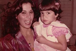 Tatiana Strudwick with her mother Cida Mattos.