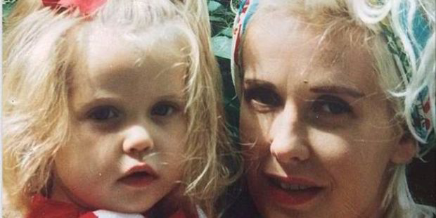 A baby Peaches Geldof with her mum Paula Yates. This was the last picture Peaches posted to Instagram before her death from heroin overdose. Photo / Instagram