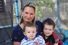 Danica Weeks - widow of Paul Weeks - with sons Jackson, 1, and Lincoln, 3. Photo / 60 Minutes
