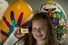 Brianna Fuller won a replica 18-carat gold Peanut Slab. Photo / Brett Phibbs