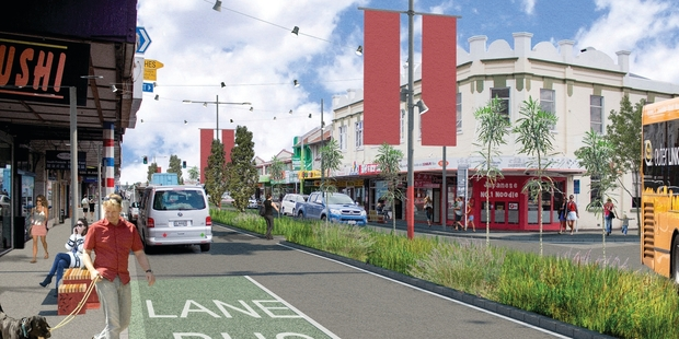 Work on the upgrade of Dominion Rd, one of Auckland's busiest roads and