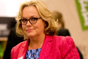 Justice Minister Judith Collins during the party conference at the weekend. Photo / Dean Purcell