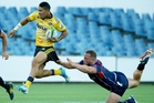 Ardie Savea caused the Rebels some anxiety in their pre-season trial match and starts tonight. Photo / Getty Images