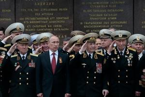 Vladimir Putin addressed jubilant crowds in Sevastopol, Crimea, in a visit condemned by the Ukraine. Photo / AP