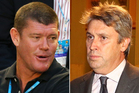 James Packer, left, and David Gyngell. Photos / Getty Images