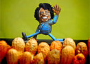 Steve Casino's peanut art figurine of James Brown. Photo: Mike Hoeting/SteveCasino.com