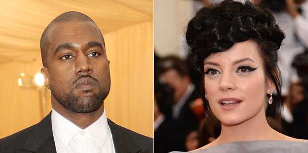 Kanye West and Lily Allen bonded at the Met Gala. Photos / Getty Images