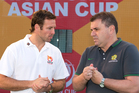 Lucas Neill and Socceroos coach Ange Postecoglou. Photo / Getty Images