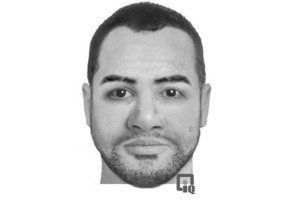 This sketch of the dead man was released by police today