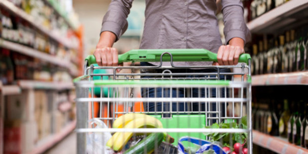 It's difficult to avoid a head-on collision in a packed supermarket. Photo/Thinkstock