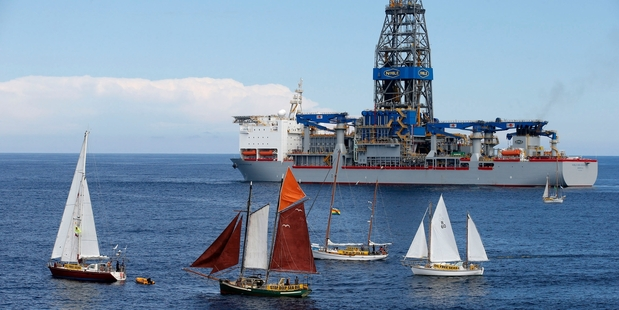 Greenpeace says it is likely to target the drill ship, the Noble Bob Douglas, again.