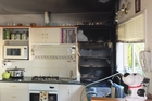 This appliance garage fire, in a Whangarei home on January 1, was extinguished just in time. Photo / NZ Fire Service