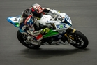 Tauranga-based superbike rider Linden Magee in action.Photo/Supplied