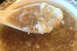 Shark fin soup is a Chinese delicacy.