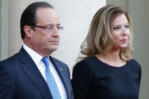 Francois Hollande and his partner, journalist Valerie Trierweiler. Photo / AP