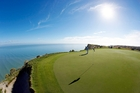 The Farm at Cape Kidnappers Golf Course, Hawkes Bay, which is owned by Julian Robertson. He is playing host to former New York Mayor Michael Bloomberg and Diana Taylor. Photo / APN