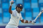Mahela Jayawardene celebrates his 32nd test century. Photo / AP
