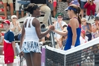 Ana Ivanovic, right, beat Venus Williams in the ASB Classic final. Photo / Richard Robinson