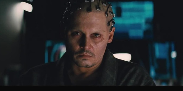 Johnny Depp in his upcoming movie Transcendence.