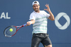 Second seed and world No 12 Tommy Haas was beaten by promising American Jack Sock. Photo / File