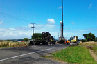 The fatal crash scene in Manawatu. Photo / supplied
