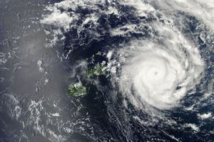 Tropical Cyclone Ian skirted Fiji before heading for Tonga, causing damage there. Photo / NASA