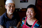 David Cho of Tulbo Restaurant, here with Susan Lee, says it will be a challenge to cook abai soondae sausages at home.  Photo / Dean Purcell