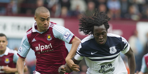 West Ham's Winston Reid (left). Photo / AP