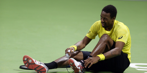 France's Gael Monfils has pulled out of the Heineken Open. Photo / AP.