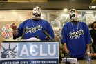 Joseph Bruce aka Violent J, left, and Joseph Utsler aka Shaggy 2 Dope, members of the Insane Clown Posse. Photo / AP