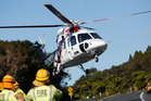 A young boy, understood to be the girl's twin, was uninjured, but flown to Whangarei Hospital as a precaution. Photo / Michael Cunningham