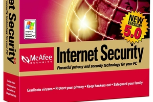 McAfee security software.