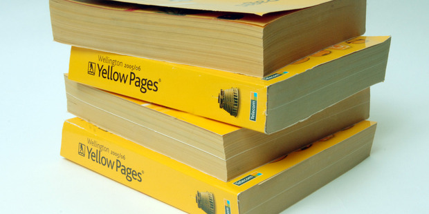 Yellow pages directory, Wellington. Photo / NZPA