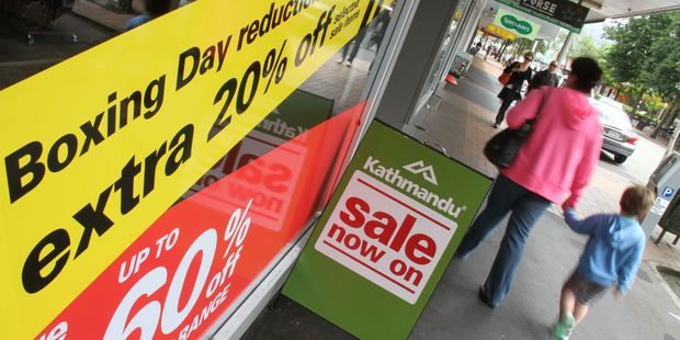 Shopping on Masterton's main street, as people look for bargains. Photo / APN