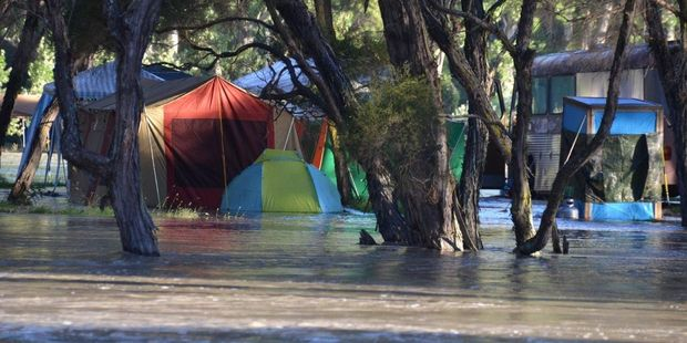 Campers abandoned tents as the Morison's Bush area was flooded by a deluge of rain. Photo/Supplied.