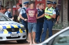 Six people, aged from 16 to 19, were taken into police custody yesterday afternoon after a brawl broke out in Tutanekai St. Photo / Ben Fraser