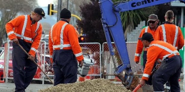 Workers installing ultra-fast broadband cables.  Photo/File