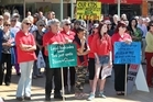 Hastings residents voiced their disapproval at retailers who sell pyschoactive substances during September's rally in Hastings. Photo/File