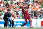 Captain Dwayne Bravo played a major part in the West Indies' sizzling win at Seddon Park on Wednesday, hitting 106 runs off 81 balls to put his seal on the ODI series. Photo / Christine Cornege