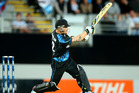 Brendon McCullum of New Zealand bats during the first T20 between New Zealand and the West Indies. Photo / Getty Images