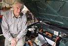 Chris Northover and his electric car - little hands and 140 volts DC do not mix.  Photo/File