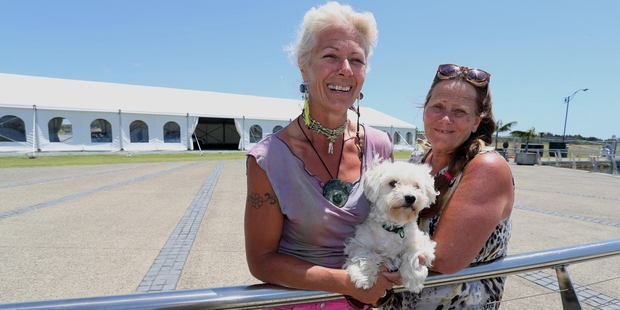 Organiser Lee Colvin (left) and Clare Saville ahead of tomorrow's Summer Country Music Fest at Marsden Cove Marina. Photo/John Stone