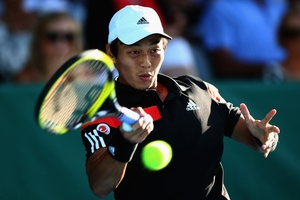 Yen-Hsun Lu, of Taipei, will meet American John Isner in the final of the Heineken Open in Auckland today after his stunning victory over  David Ferrer yesterday. Photo / Getty Images