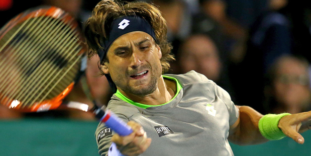 Spain's David Ferrer had to find another gear to beat compatriot Guillermo Garcia-Lopez in last night's tense quarter-final at the Heineken Open in Auckland. Picture / Getty Images